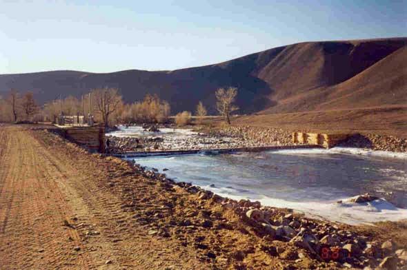 Плотина мини-ГЭС Кызыл-Хая