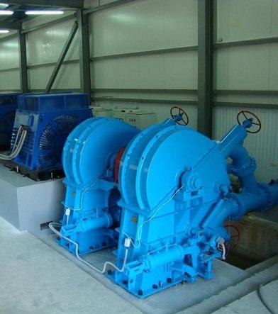 Гидроагрегат ГА-10М с турбинами Пелтона