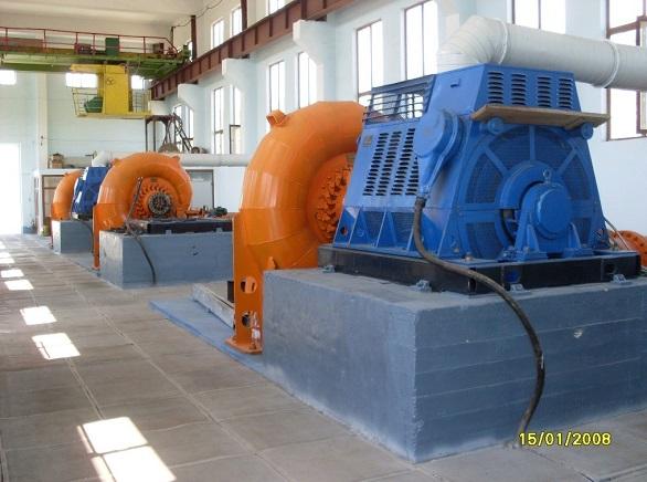 Радиально-осевые турбины, малая ГЭС Талин