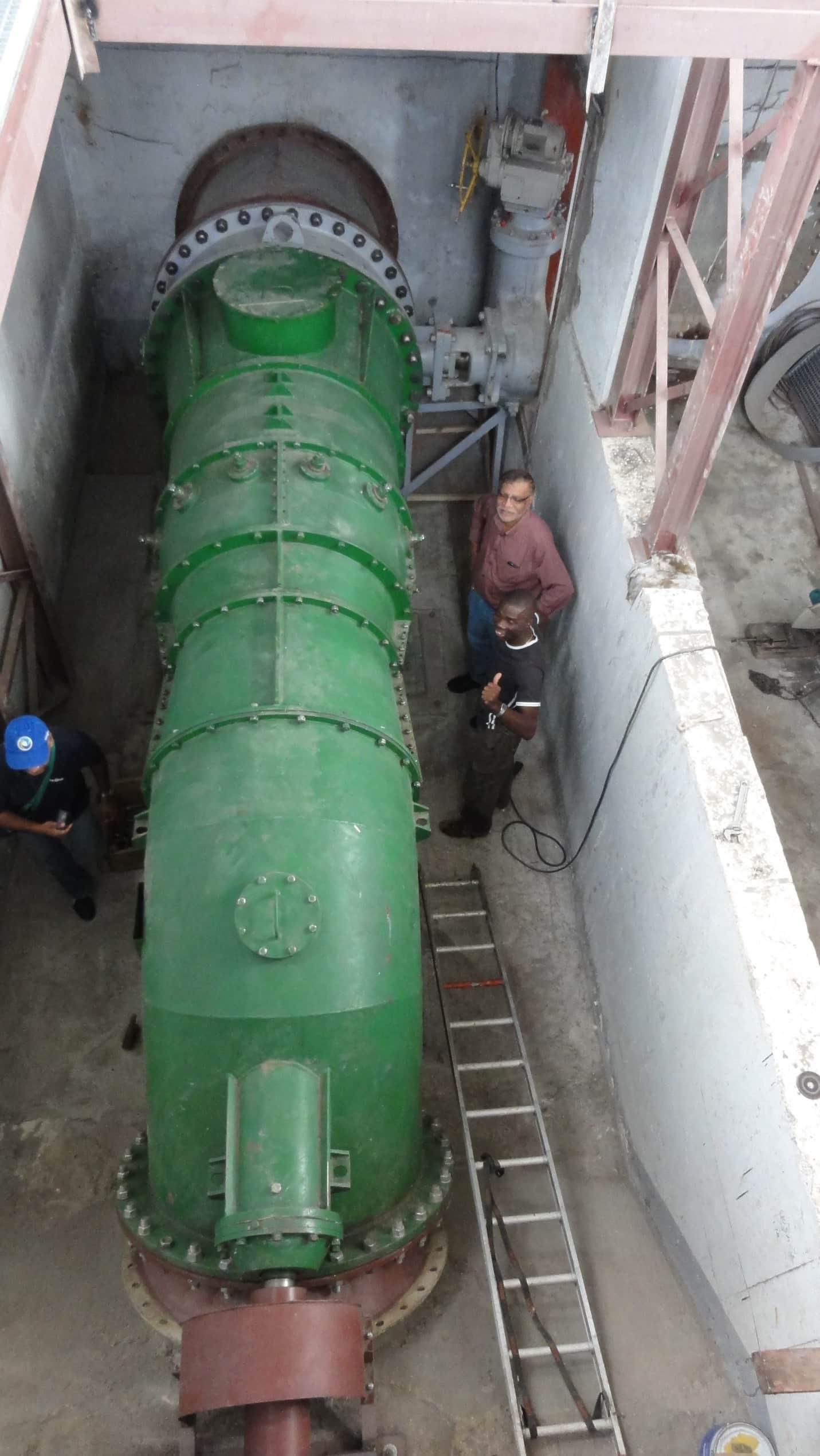 Монтаж гидротурбины ГА-14