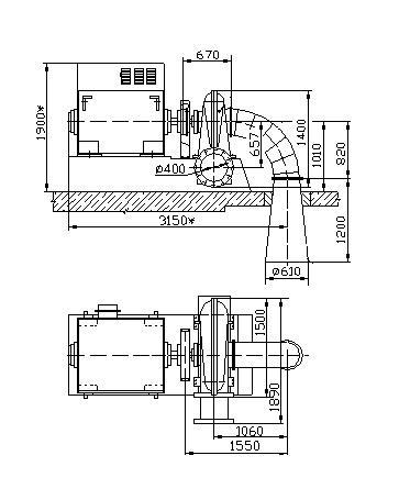 Схема гидроагрегата ГА-4